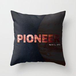 NASA Pioneer Throw Pillow