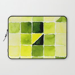 Color Chart - Lemon Yellow (DS) and Sap Green (DS) Laptop Sleeve