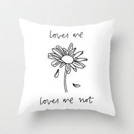 Loves Me Loves Me Not Throw Pillow