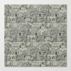 dystopian toile mono Canvas Print