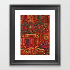 Kunas artwork Framed Art Print