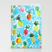 pineapples Stationery Cards featuring Pineapples by Barbarian // Barbra Ignatiev