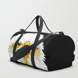 bald eagle vector art Duffle Bag