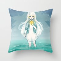 cyarin Throw Pillows featuring Safe Haven by Cyarin