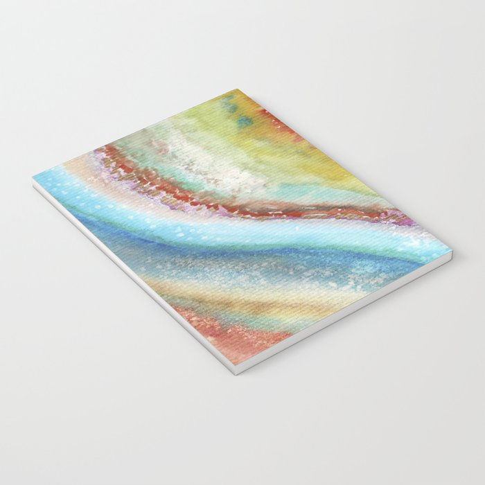 AGATE Inspired Watercolor Abstract 01 Notebook