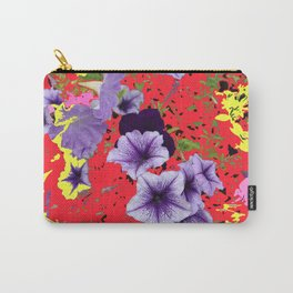 Petunias with Patterned Background Carry-All Pouch