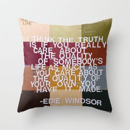 """The Truth Is"" Throw Pillow"
