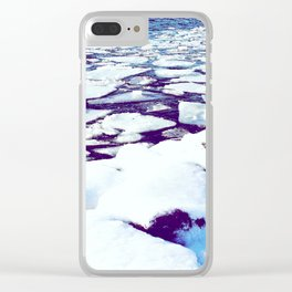Snowy Waterfront Clear iPhone Case