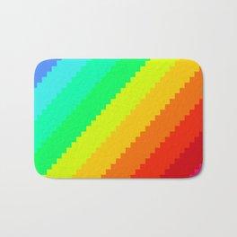 Pixel Rainbow Dreams Bath Mat