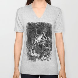 The Jabberwocky Unisex V-Neck