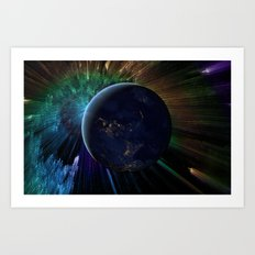 You Run to Catch Up With the Sun (But It's Sinking) Art Print