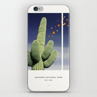 parks iPhone & iPod Skins featuring National Parks: Saguaro by Roadtrippers