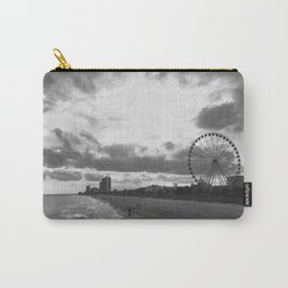 South Carolina Coastline - Myrtle Beach BW Carry-All Pouch