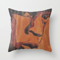 jay fleck Throw Pillows featuring Jay by 100mill