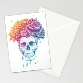 Color skull Stationery Cards