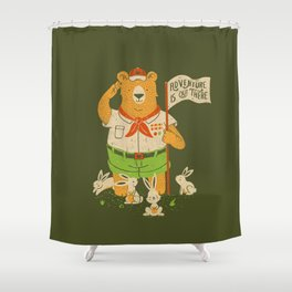 Adventure Is Out There Shower Curtain