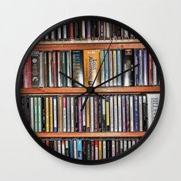 CD's on a Shelf Wall Clock