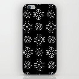 Nighttime Snowflakes iPhone Skin