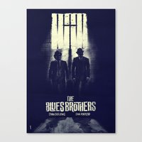 blues brothers Canvas Prints featuring The Blues Brothers  by Dan K Norris