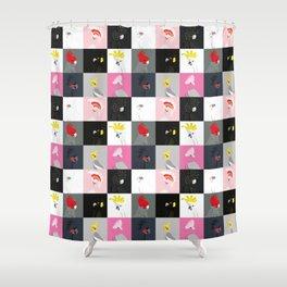 Australian cockatoos tile pattern Shower Curtain
