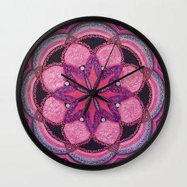 Amethyst Imaginings Mandala Wall Clock