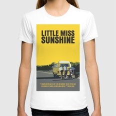 Little Miss Sunshine Movie Poster X-LARGE White Womens Fitted Tee