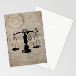 Weigh your Justice  Stationery Cards