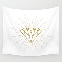 diamond Wall Tapestries featuring Diamond by Hipster