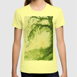 Green Sap Green WaterColour Tree by CheyAnne Sexton T-shirt