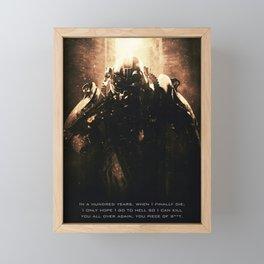 Fall out Framed Mini Art Print