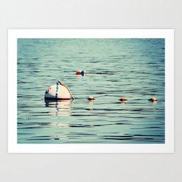 Buoys Art Print