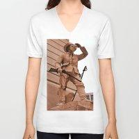 battlefield V-neck T-shirts featuring Battlefield by Photaugraffiti