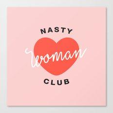 Nasty Woman Club Canvas Print