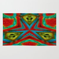 moth Area & Throw Rugs featuring Moth by RingWaveArt