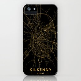 Kilkenny, Ireland - Gold iPhone Case