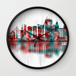Sao Paulo Brazil Skyline Wall Clock