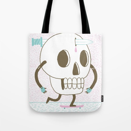 As I Skate through the Valley of Death Tote Bag