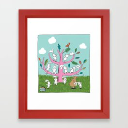 rabbit moves Framed Art Print