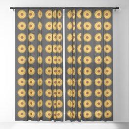 Sunflower Pattern - floral pattern design Sheer Curtain