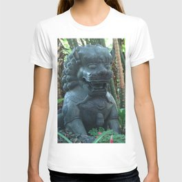Lion Statue in the Tropics Photography T-shirt