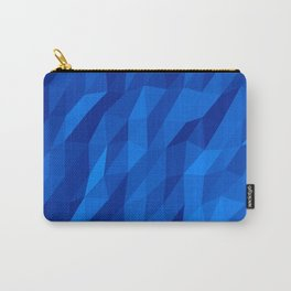 Blue Polygon v1 Carry-All Pouch