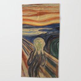 The Scream by Edvard Munch Beach Towel