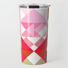 Pink Roses in Anzures 3 Abstract Triangles 1 Travel Mug