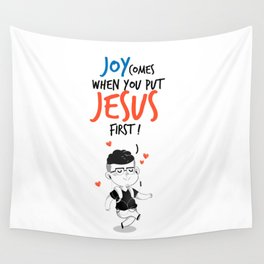 JESUS first Wall Tapestry