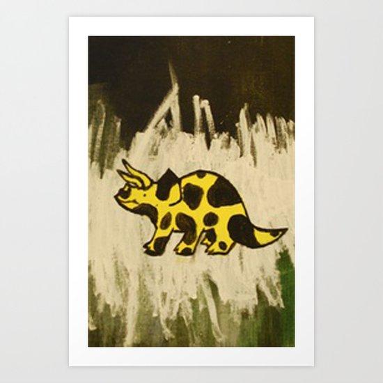 Triceraspot Art Print