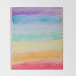 Chakra Watercolor Throw Blanket