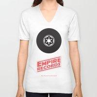records V-neck T-shirts featuring Empire Records by mattranzetta