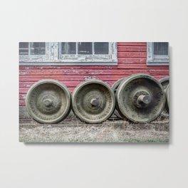 Train Wheelsets in East Broad Top Service Yard Railroad Boxcar Wheels Color Version Metal Print