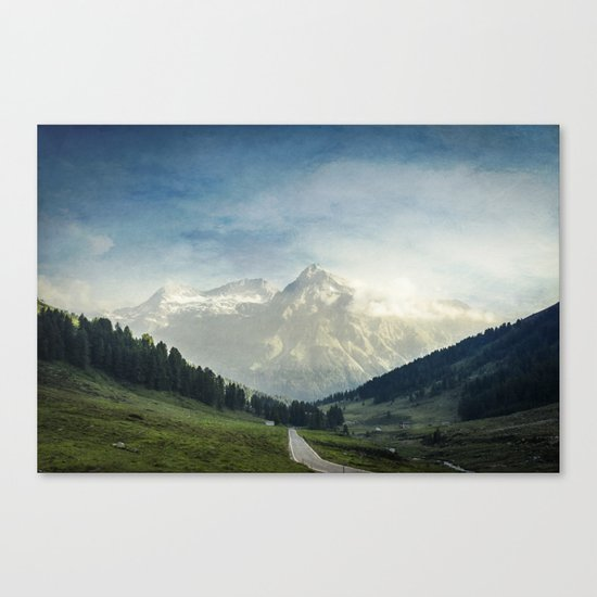 the Alps - Sunlit Suretta Massif Canvas Print