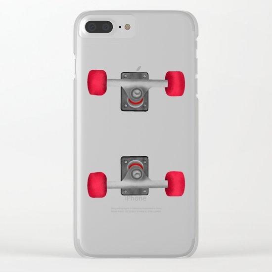 Skateboard Trucks Clear iPhone Case
